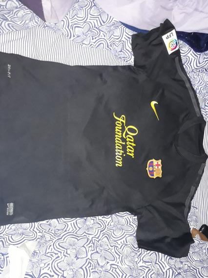 Camiseta Alternativa Barcelona #8 Iniesta Nike 2012 Talle Xl