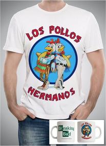 Camiseta + Caneca Los Pollos Hermanos Breaking Bad