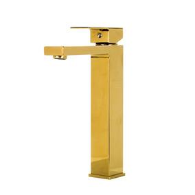 Torneira Misturador Monocomando Alta Banheiro Dourada