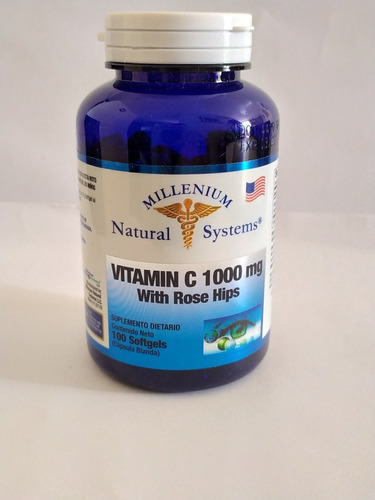 Vitamina C 1000 Mg With Rose Hips 100 - Unidad a $4