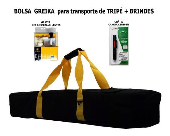 Case Bolsa Greika Kb100 Para Transporte De Tripé + Brindes