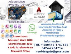 Asesorias Academicas Para Tesis / Informes De Pasantias