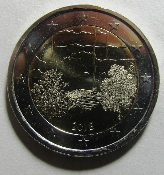 Finlandia Moneda Bimetalica 2 Euros 2018 Unc Sauna Filandesa