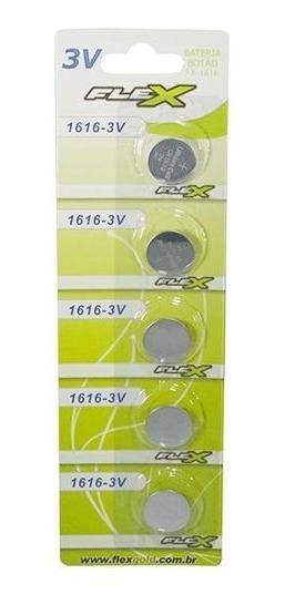 Bateria De Litio Cr1616 3v Blister Com 5 Un