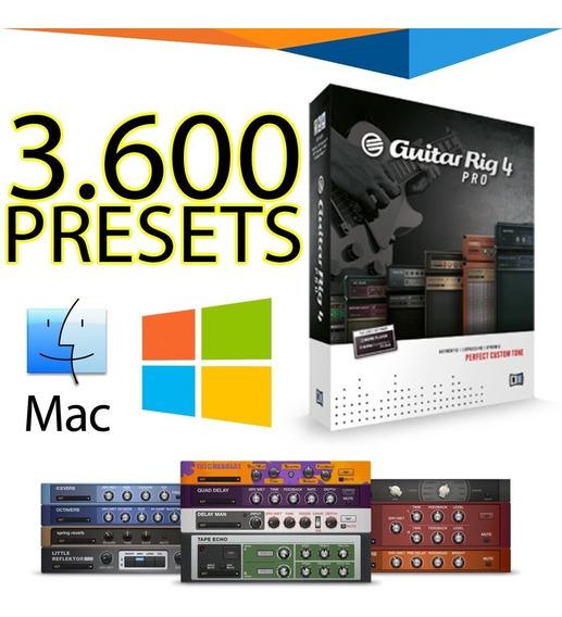 3600 Presets Guitar Rig 4 Para Windows Ou Mac