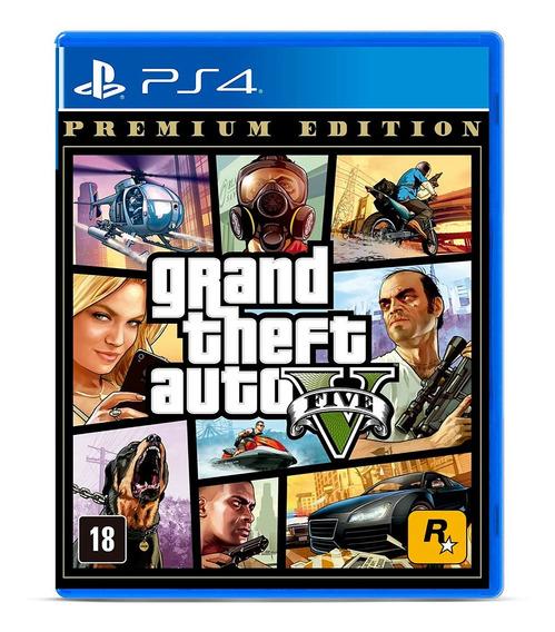 Grand Theft Auto V Gta 5 Premium Jogo Mídia Física Ps4