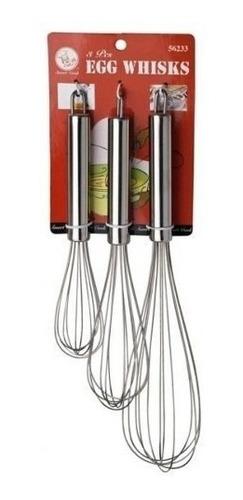 Set De 3 Batidores Manuales. Smart Cook