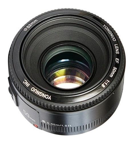 Imagem 1 de 10 de Lente Yongnuo 50mm 1.8 Canon Yn 50mm Ef / Full-frame