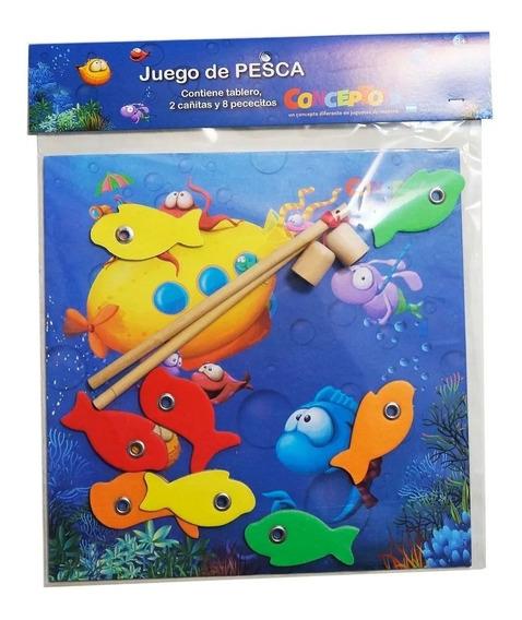 Juego De Pesca Madera Con Imán Y Tablero