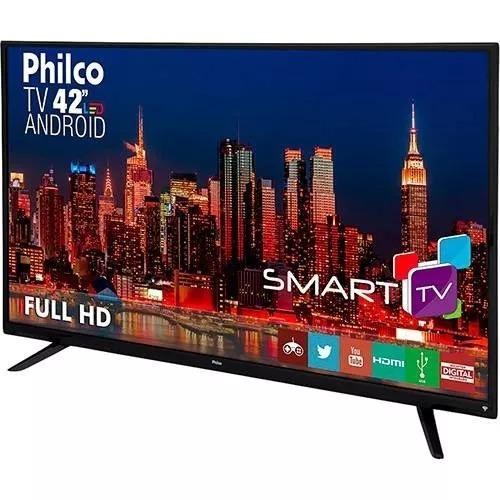 Smart Tv Led 42 Philco Full Hd Com Conversor Digital 2 Hdmi