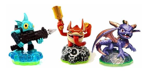 Combo 3 Bonecos Skylander Spyro + Trigger Happy + Gill Grunt