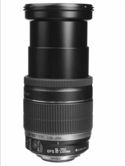 Lente Canon Efs 18-200 Is + Para-sol (grátis)