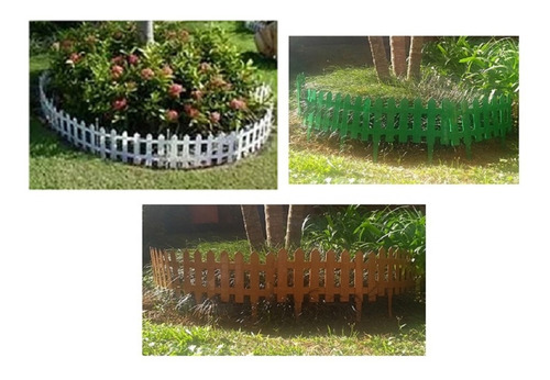 21 Cerca Plastica P Jardim Decorativa Ingles 40,5x19