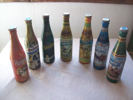 Lote De 7 Botellas Vacías De Quilmes . Ediciones Históricas