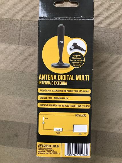 Antena Digital Interna E Externa Pix Cabo 5,0 Metros