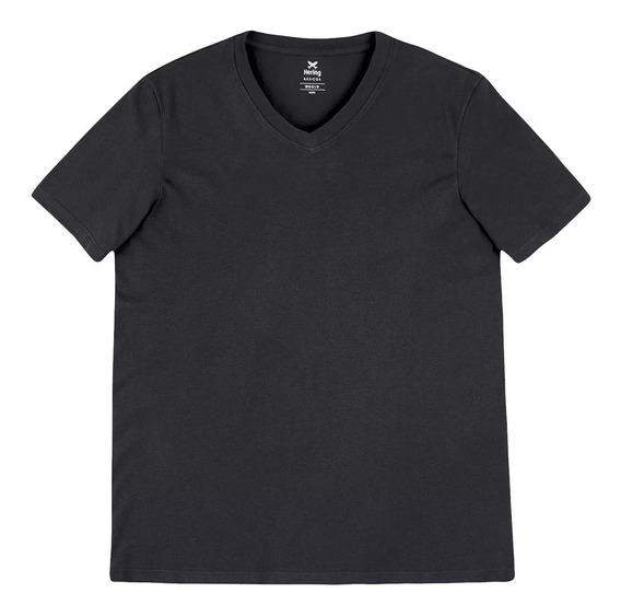Camiseta Hering Gola V - Manga Curta - Masculina