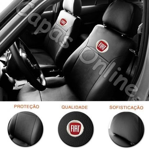 Imagem 1 de 4 de Capa Banco Couro Fiat Palio G3 Elx 2009 2010 2011 + Volante