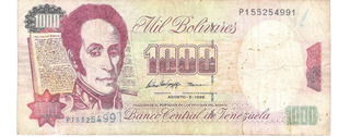 1.000 Bolívares Serie P Del 06-08-1.998