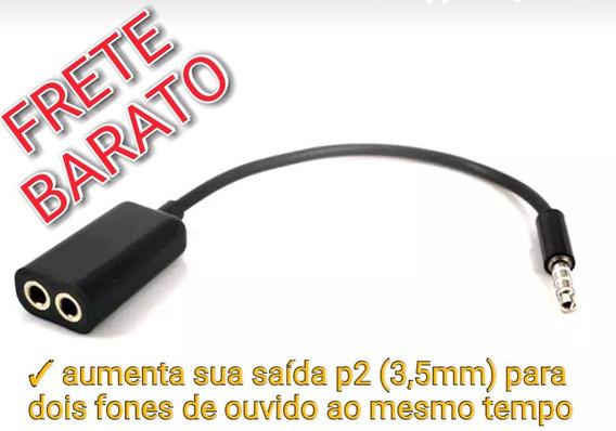Adaptador Duplicador Audio P2 Dois Fone Femea Fone De Ouvido