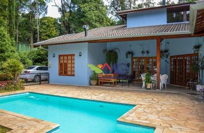 Casa Mobiliada Com Piscina Para Venda No Clube Da Montanha Em Atibaia - Ca0266