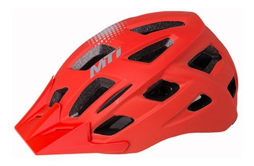 Casco Ciclismo Mtb Con Luz Mti Street Regulable Liviano Vent
