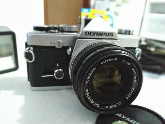 Câmera Fotográfica Olympikus Om - 1 + Flash