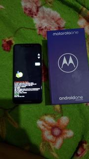 Celular Motorola One 64gb Xt1941-3 Travado Na Tela Fastboot!