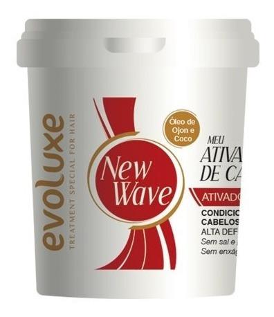Creme Ativador De Cachos New Wave Evoluxe 980g - 3 Unidades