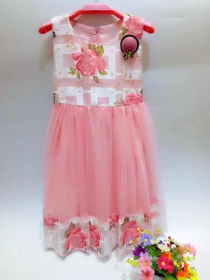 Vestido De Nena Con Tull Para Fiesta Eventostalle 4a10 C1268