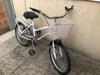 Bicicleta Fiorenza R.20 Con Canasto De Mujer Usada. $4000