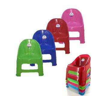 Silla Plástico Infantil Apilable Colores Surtidos X8