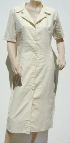 Vestido Chemise Lino Beige (ana.mar)