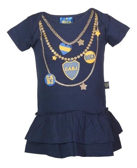 Vestido Boca Beba Body Nena Ajuar Licencia Camiseta Y River