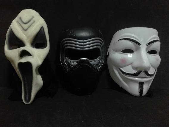 Lote De 3 Mascaras Kylo Ren, Anonymus Y El Grito De Scream