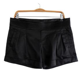 b7abbdc44 Short De Vestir De Satén Elastizado Negro Marca Zara #sh