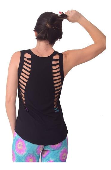 Kit 3 Regatas Academia Feminina Nadador, Camiseta Atacado Recortes A Laser , Blusa Feminina