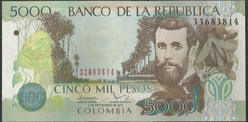 Colombia, 5000 Pesos 2 Sep 2013 Bgw550
