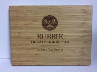 Tabla Para Picar Cocina Bambú Grabada D2