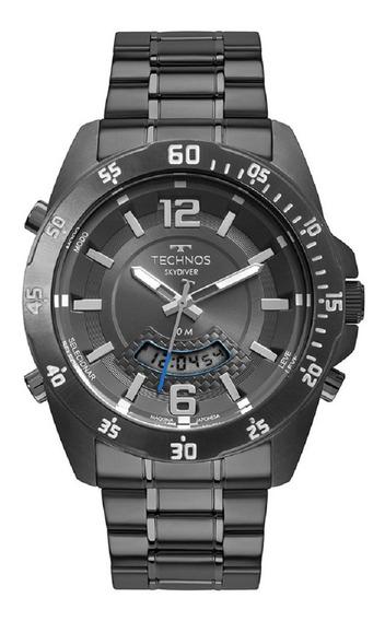 Relógio Technos Masculino Skydiver T205jm/4c Grafite Lançame
