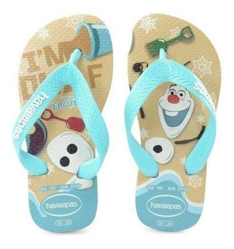 Chinelo Havaianas Kids Infantil Frozen - Olaf Disney