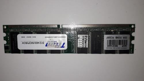 Memória Para Pc Titan Elpida 512mb Ddr 400 Pc3200 Elp 8ch