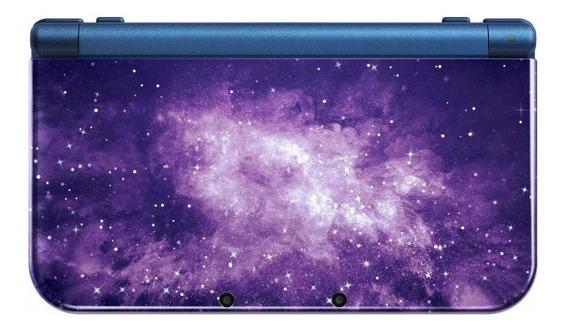 Nintendo New 3DS XL Galaxy Style violeta y azul