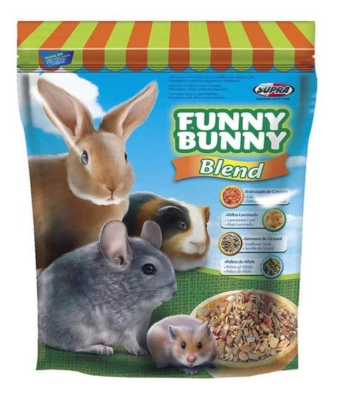 Ração Supra Funny Bunny Blend Coelhos, Roedores E Chinchila