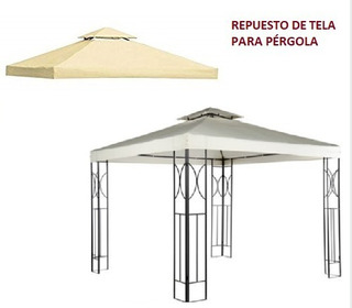 Repuesto Tela Toldo Pérgola 3x3 Metros Impermeable Homeparts