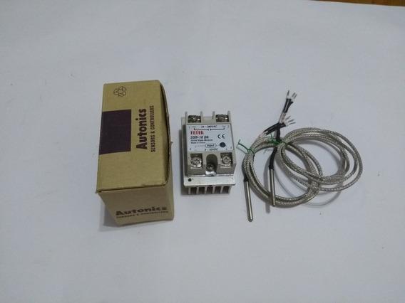 Controlador De Temperatura + Sensores Pt-100 + Relé Ssr
