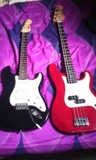 Guitarra Fender Y Bajo Eléctrico, Tal Cual Las Fotos.