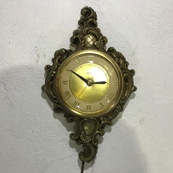 Hermoso Reloj United Electrico De Pared Vintage