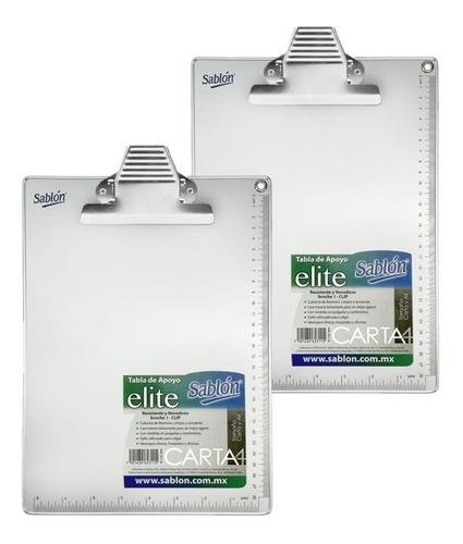 2 Pack Tabla De Apoyo Aluminio Tamaño Carta Con Broche Metal