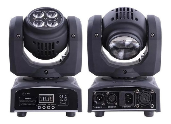 2 Moving Led Double Face 2in1 Beam 12w + Wash 48w Dmx Strobo