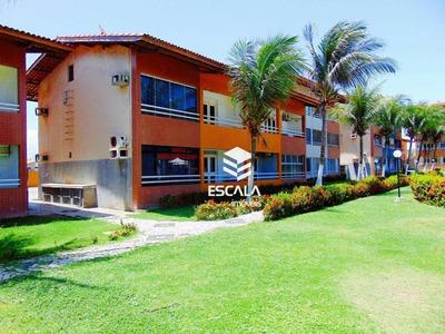 Apartamento 2 Quartos À Venda Na Praia Do Futuro, A 50m Do Mar, 66,37m2, Suíte, 2 Vagas, Área De Lazer. - Ap1418